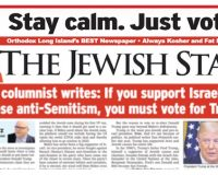 Jewish Star Newspaper: If You Support Israel And Oppose Anti-Semitism, You Must Vote For Trump