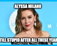 Alyssa Milano Tries To Make Peace With Trump Supporters-Deplorables Give Her Hell