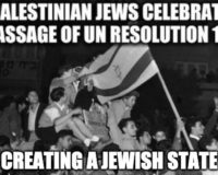 73 Years Ago Today, The UN Partitioned Palestine Creating Jewish And Arab States