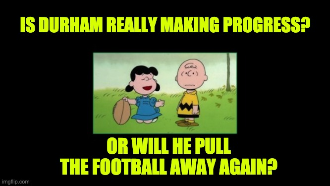 Durham is like Lucy football