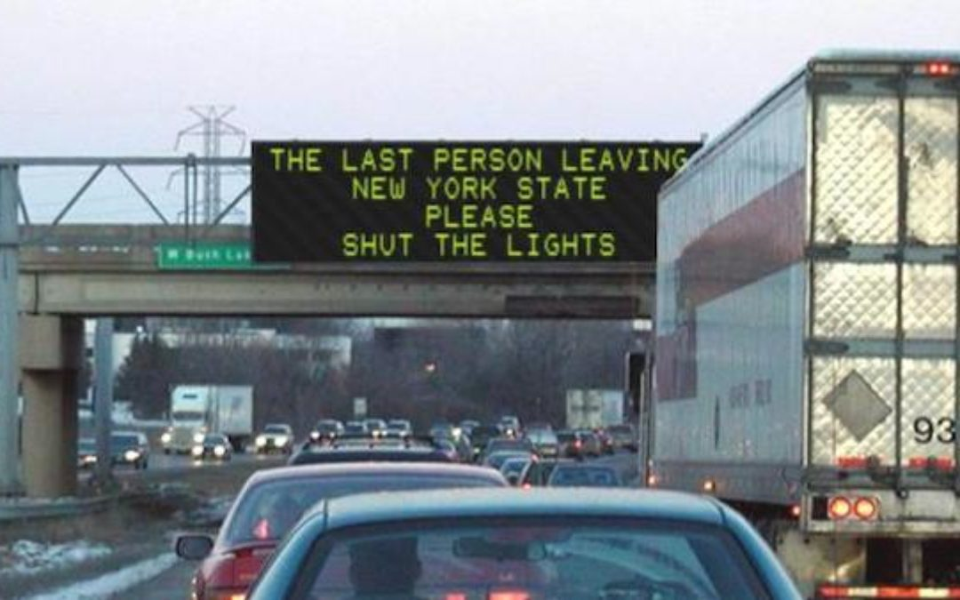NY Population Drain Continues-Will The Last Person Leaving NY State Please Shut The Lights