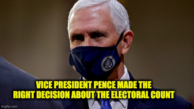 Pence followed the Constitution