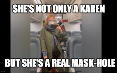 Mask-hole! HuffPo Journo Is Upset She's Recorded Trying To Mask-Shame Men Drinking Coffee On A Train (VIDEO)