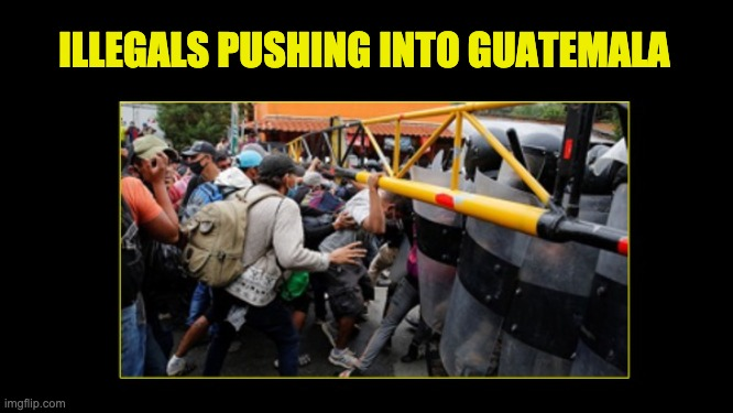 caravan storms through Guatemala border