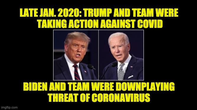 Trump actions Biden lies