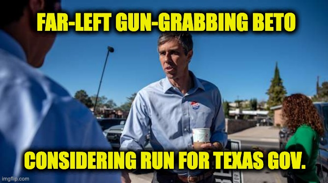 Far left gun grabbing Beto