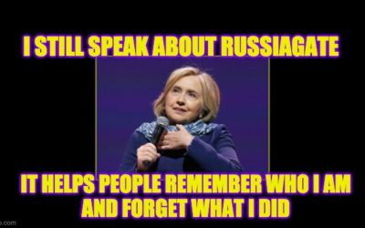 Hillary Brings RussiaGate Back from the Dead to Fire Parting Shots at Trump