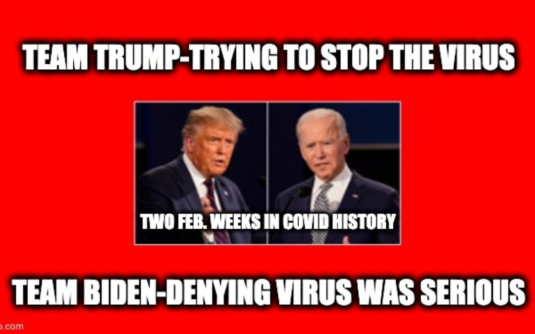Correcting MSM and Team Biden's CoronaVirus Lies-Two Feb. 2020 Weeks In COVID History