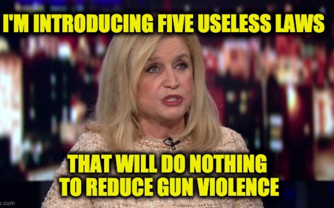 Rep. Carolyn Maloney (D-NY) Introduces FIVE Useless Gun Control Bills