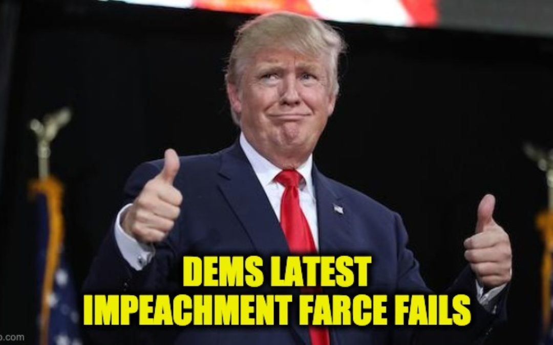 President Trump's Full Statement After Surviving Dems Latest Impeachment Farce