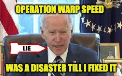 Operation Warp Speed Advisor Dumps Cold Water On Biden's COVID Lies