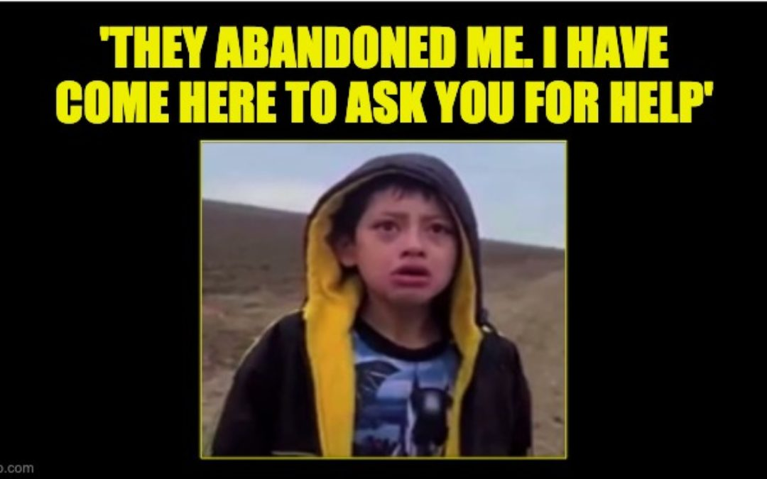 7-Year-Old Boy Abandoned Overnight In The Desert Cries As He Tells His Story To CBP (Video)