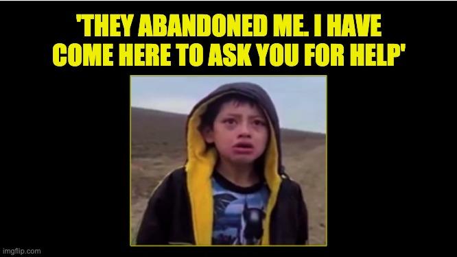 boy abandoned in desert