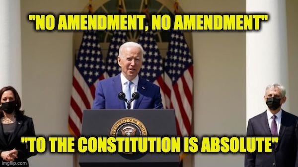no constitutional amendment absolute