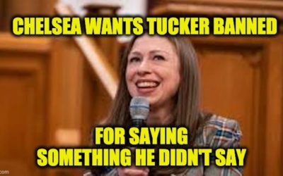 Chelsea Clinton Wants Tucker Carlson Banned From Facebook (But She's Making Up What He Said)