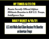The Reason 'Russian Bounty On US Troop' Story Was Released, And The Reason It Was Corrected