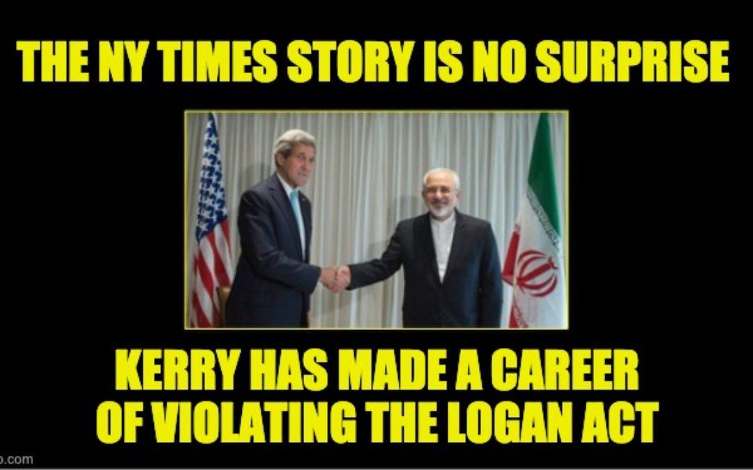 John Kerry Has Made A Career Of Violating Logan Act