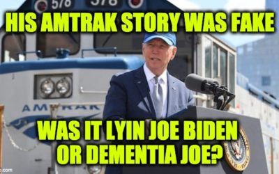 Biden's Amtrak Tale, Was It Lyin Joe Biden Or Dementia Joe?