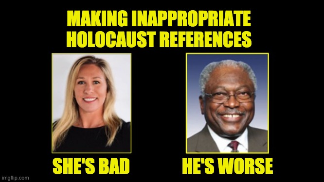 Clyburn's multiple Holocaust references