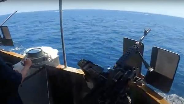USCG cutter warns IRGCN
