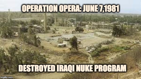 Israel prevented nuclear Iraq