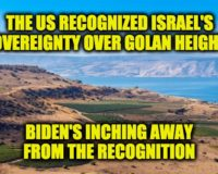 Biden Inches Away From Trump Recognition Of Israel's Golan Heights Sovereignty