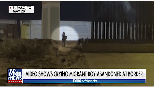 migrant child shrieking help