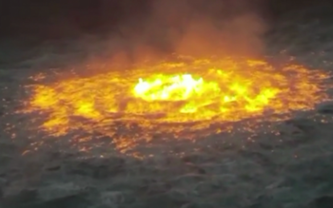Gas Pipeline Leak Turns Gulf Of Mexico Into Raging Inferno (VIDEO)