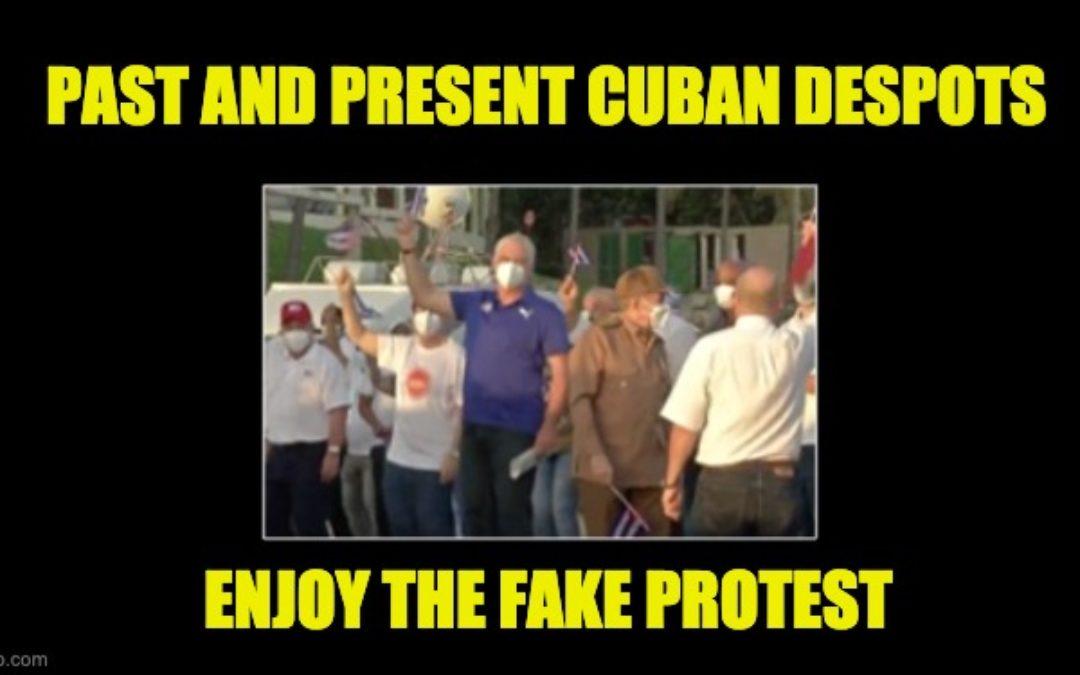 Cuba's Communist Despots Caught Shipping In Fake Pro-Gov. Protesters (Photos)