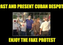 Cuba's Communist Despots Caught Bussing In Fake Pro-Gov. Protesters (Photos)