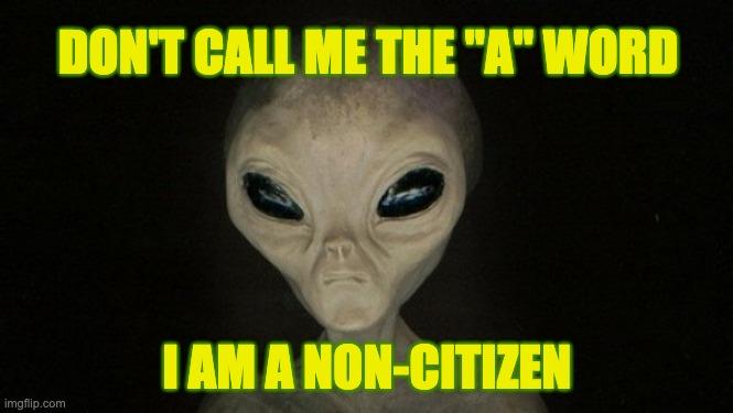 word alien is banned