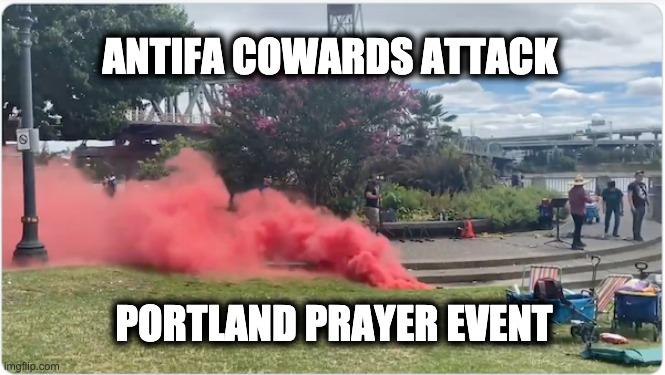attacked Portland prayer event