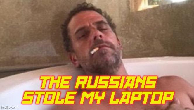 Hunter Russians Stole his Laptop