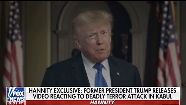 Trump Kabul bombing reply