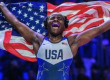U.S. Wrestling Olympic Gold Winner Tamyra Mensah-Stock Loves Being An American (Video)