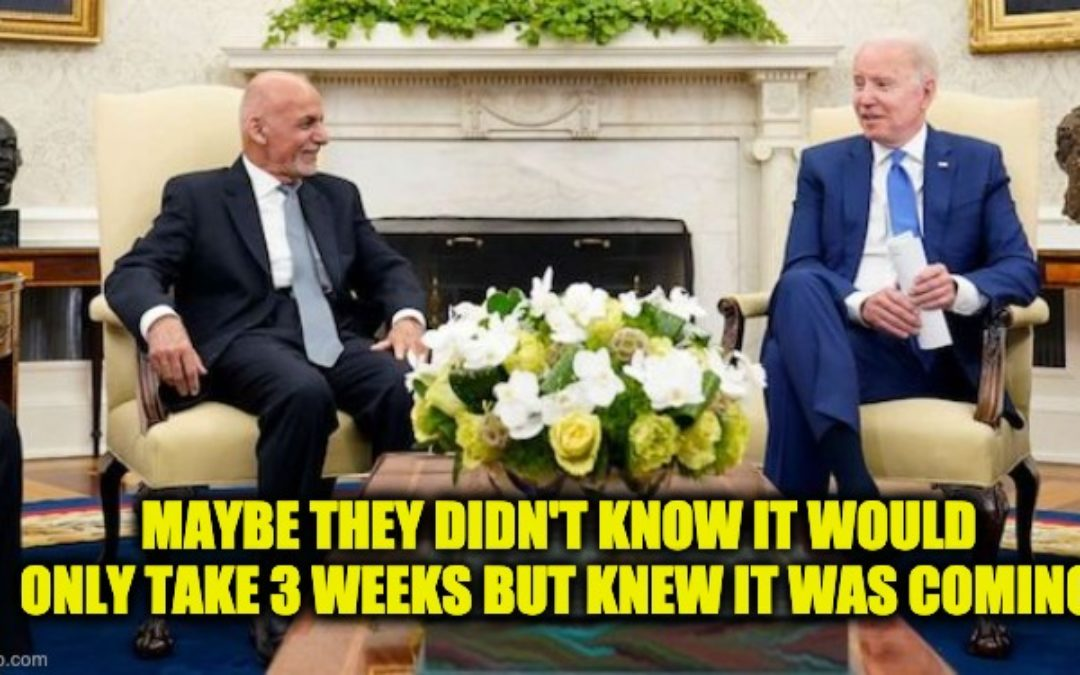 """Biden Told Afghan Pres. To Say Taliban Wasn't Winning """"Whether It's True Or Not"""""""