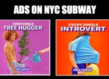 NYer Pulls Down Sexually Suggestive OkCupid Ads On NYC Subway — 'Is It Okay For A Kid To See This?'