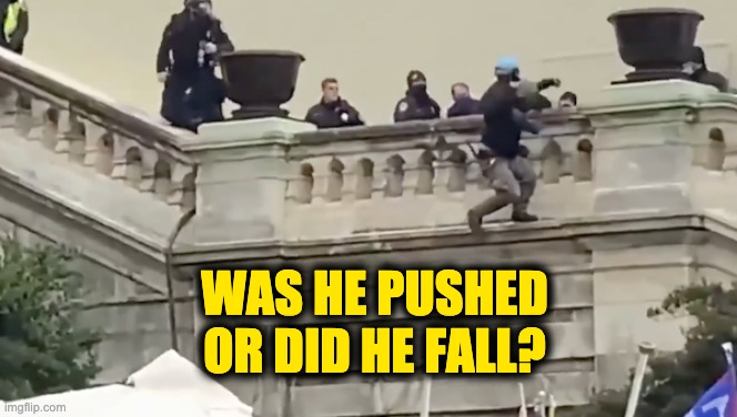 capitol police push man