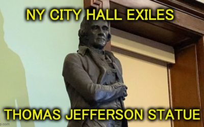 Thomas Jefferson Statue Gets 'Cancelled' From NY City Hall Chamber
