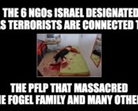 PROOF! The 6 NGOs Israel Designated As Terrorist Are Linked To The PFLP Murderers