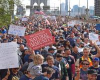 Brooklyn Bridge Shut Down by Anti-Vaxx Mandate Protest By First Responders